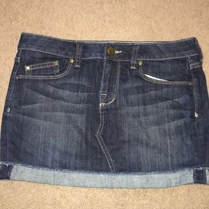 William Rast Erin Rolled Denim Mini Skirt 28